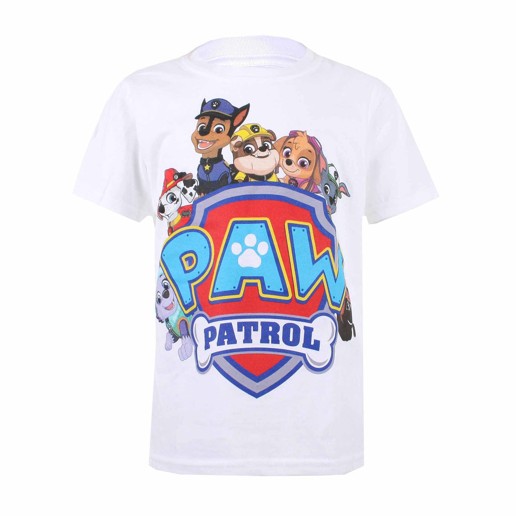 Paw Patrol Kids - Shield Characters - T-Shirt - White