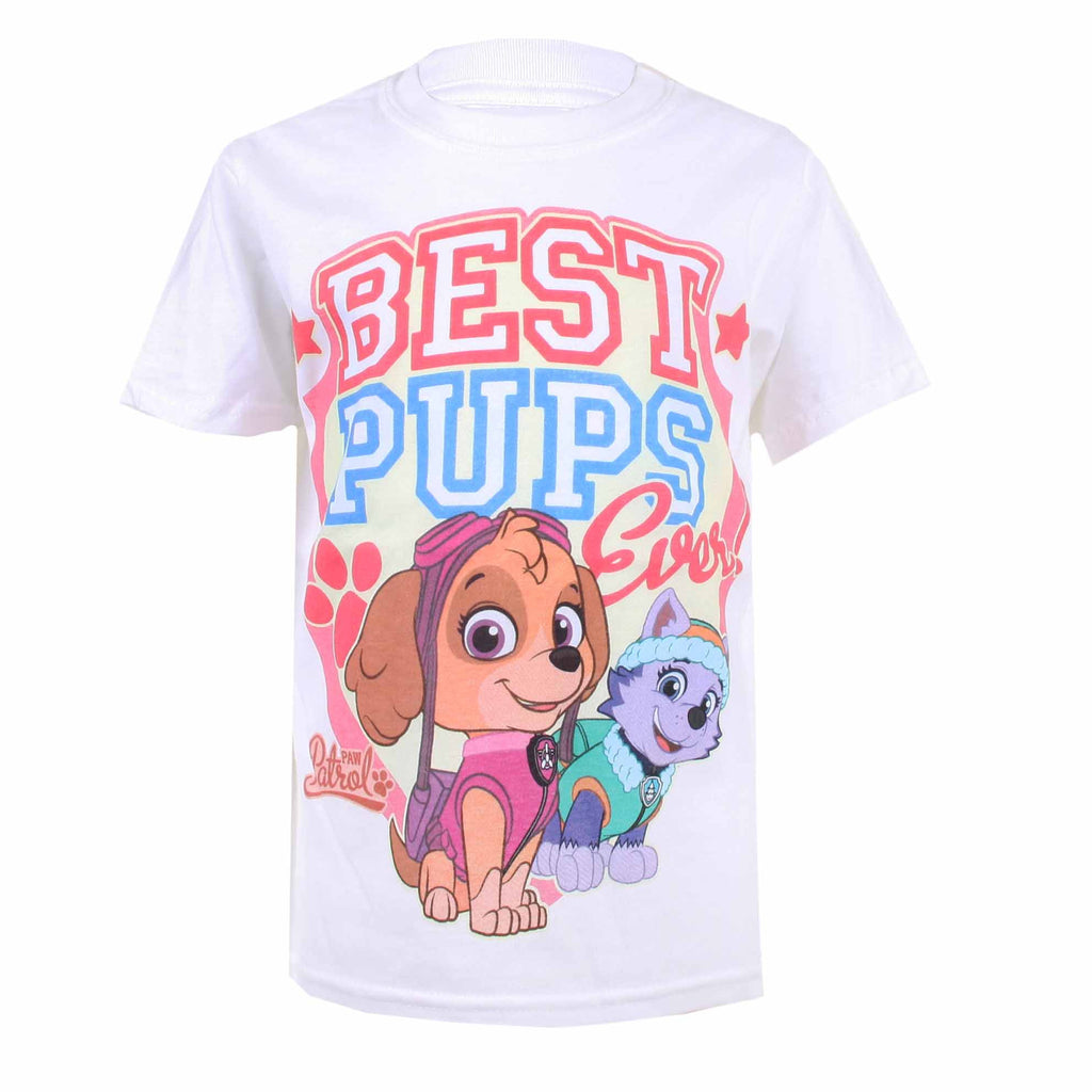 Paw Patrol Girls - Best Pups Ever - T-Shirt - White - CLEARANCE