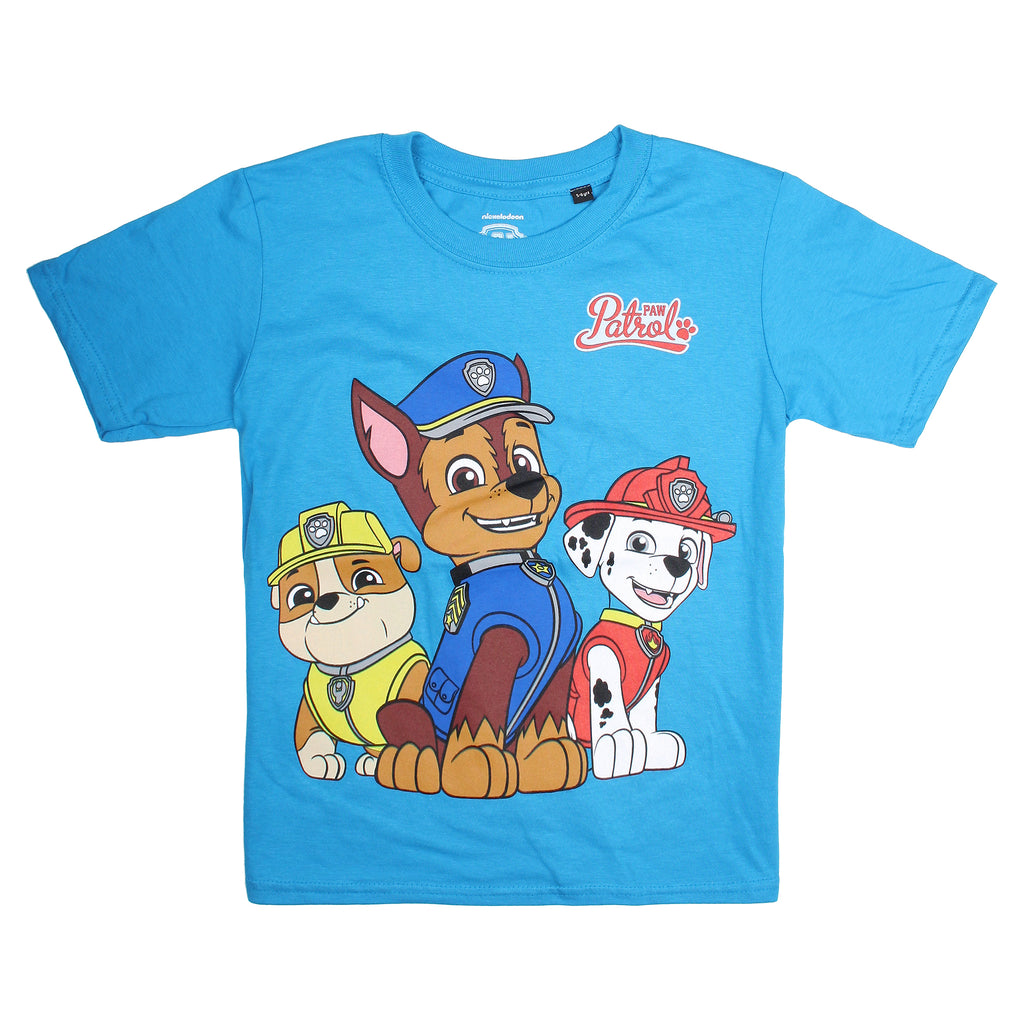 Paw Patrol Boys - Group - T-shirt - Sapphire - CLEARANCE