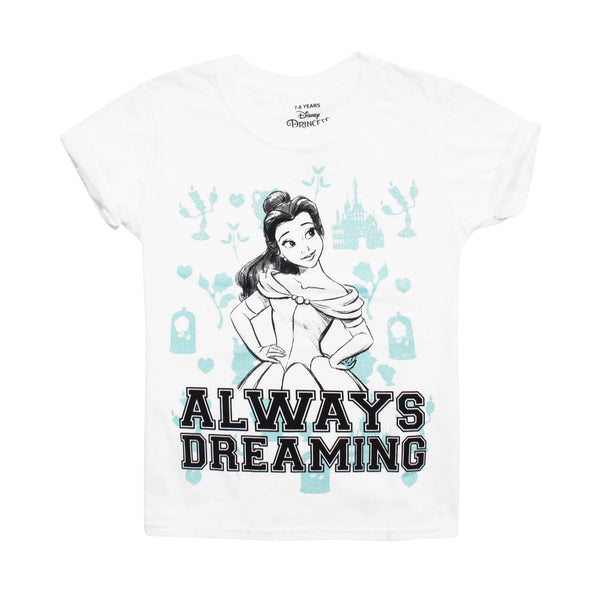 Disney Girls - Beauty And The Beast - Always Dreaming - T-shirt - White