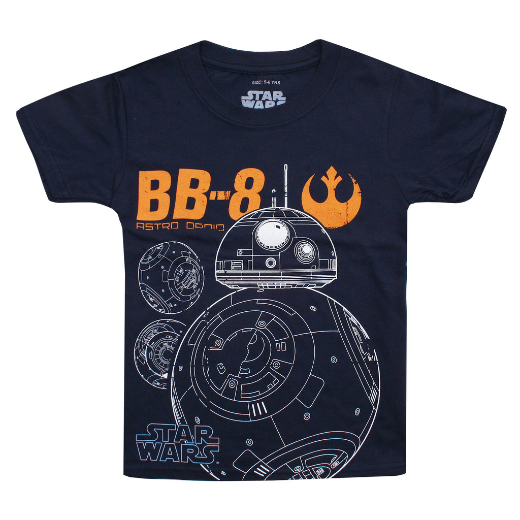 Star Wars Boys - BB8 Astro Droid - T-Shirt - Navy