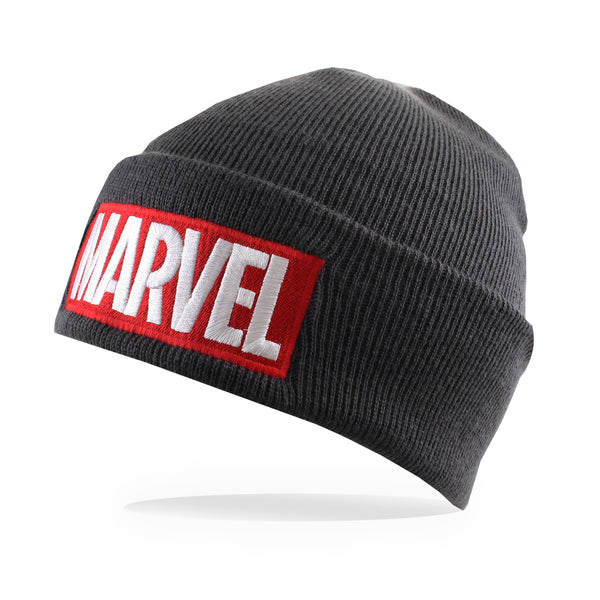 Marvel Mens - Logo - Beanie - Charcoal