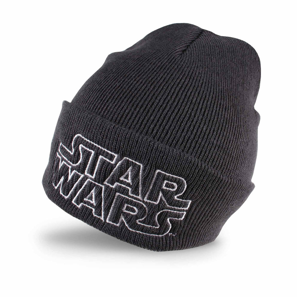 Star Wars Mens - Retro Logo - Beanie - Graphite Grey - CLEARANCE