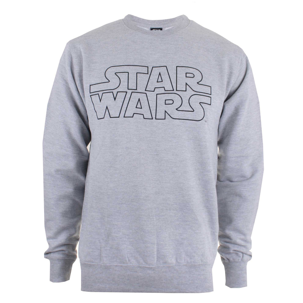 Star Wars Mens Basic Logo Crew Sweat - Grey Marl