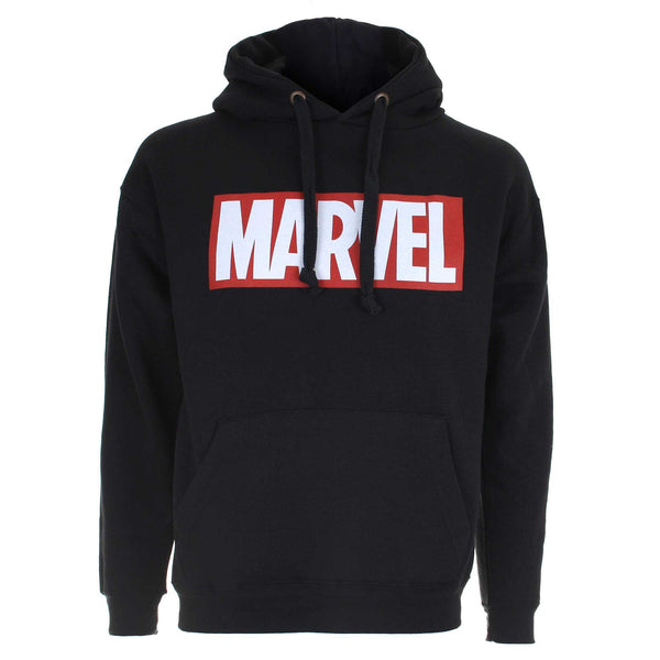 Marvel Mens Comics Core Logo Pullover Hoodie - Black