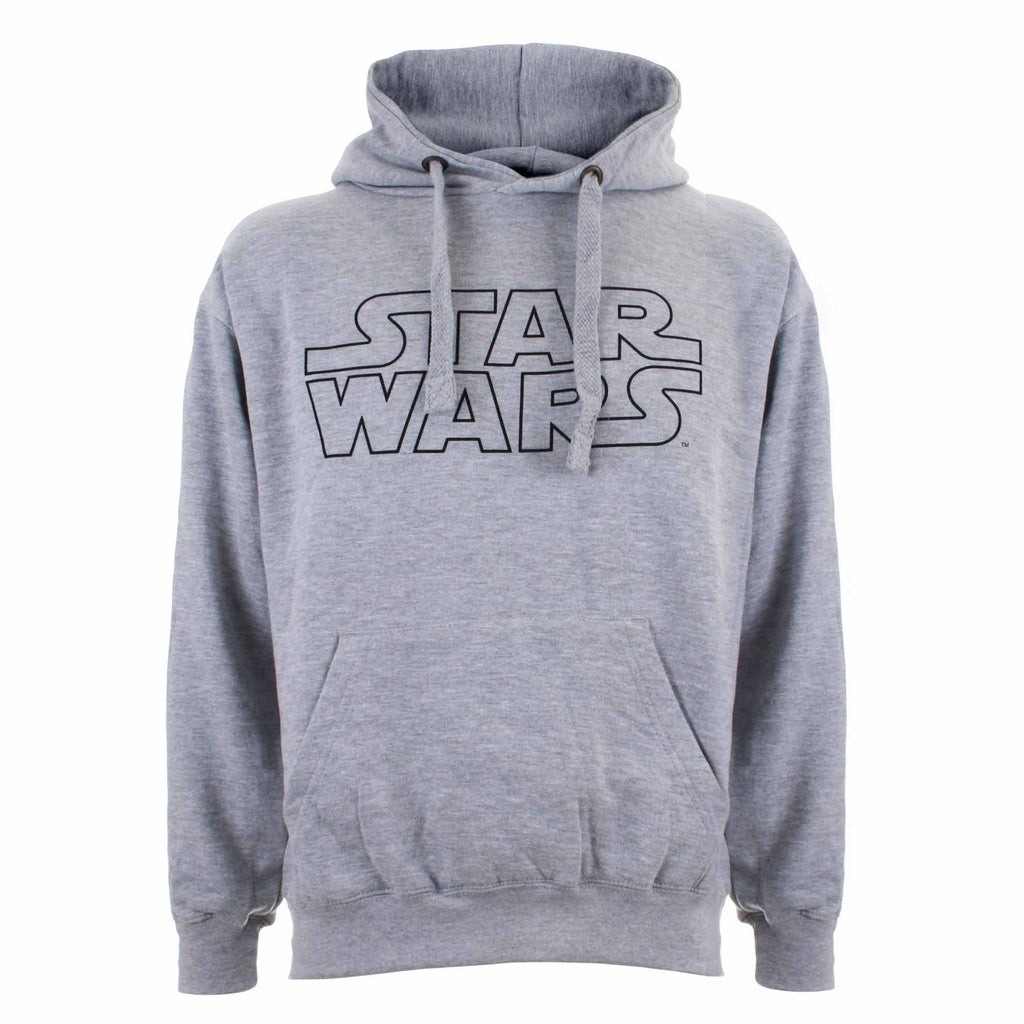 Star Wars Mens - Basic Logo - Hoodie - Grey