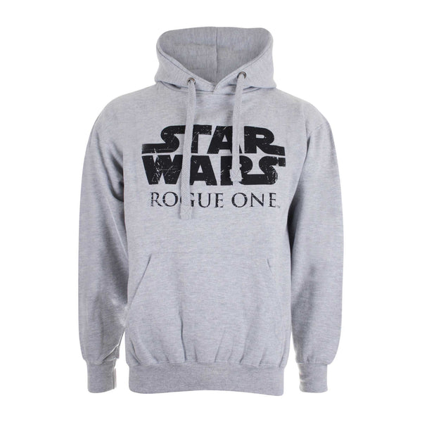 Star Wars Mens Rogue One Logo Pullover Hoodie - Grey Marl