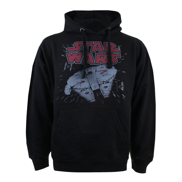 Star Wars Mens - Millenium Hyperspace - Pullover Hood - Black - CLEARANCE