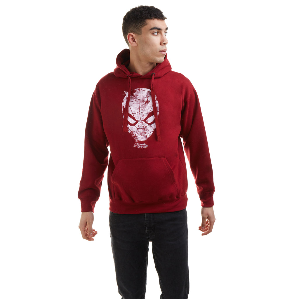 Marvel Mens - Webhead - Pullover Hood - Pepper Red