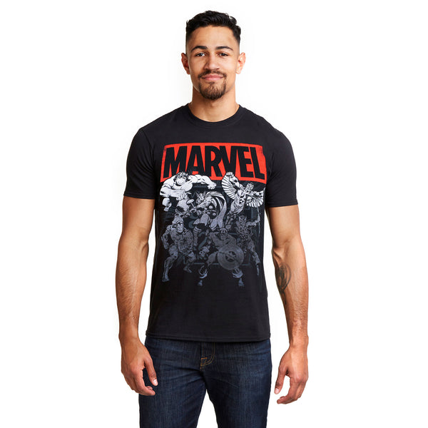 Marvel Mens - Collective Comics - T-Shirt - Black