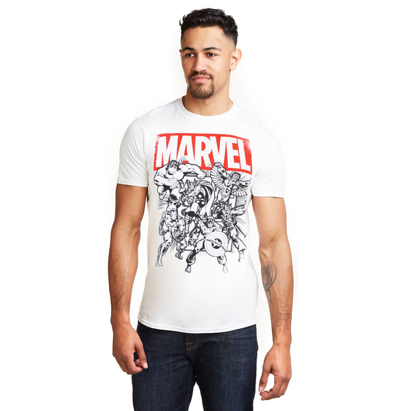 Marvel Mens - Collective Comics - T-Shirt - White
