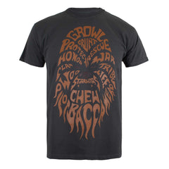 Star Wars Mens Chewbacca Text T-Shirt - Charcoal