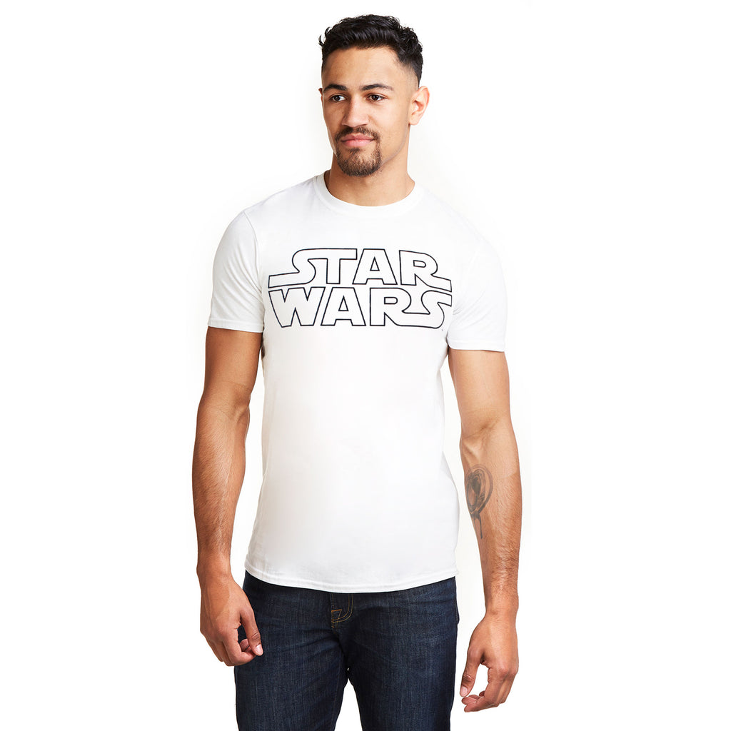 Star Wars Mens - Basic Logo - T-Shirt - White