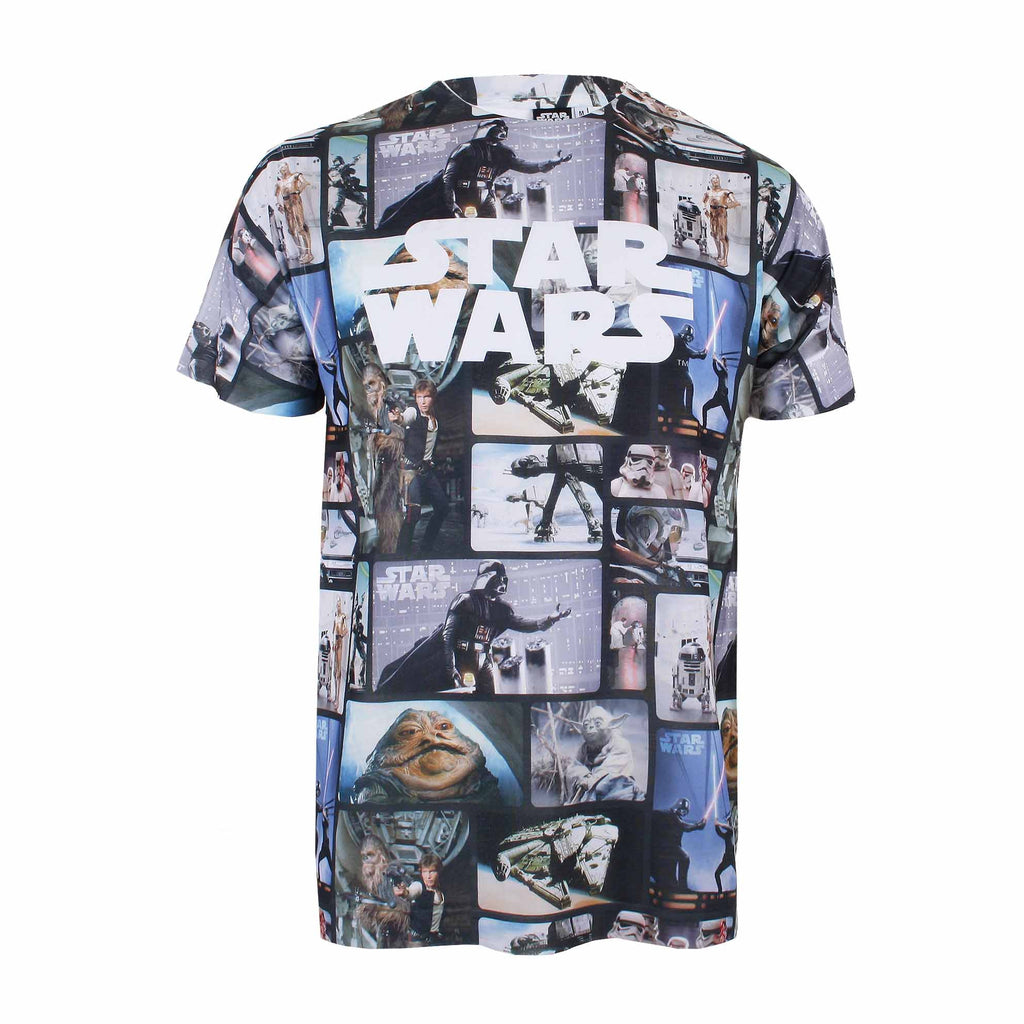 Star Wars Mens - Characters Sub - T-Shirt - White - CLEARANCE
