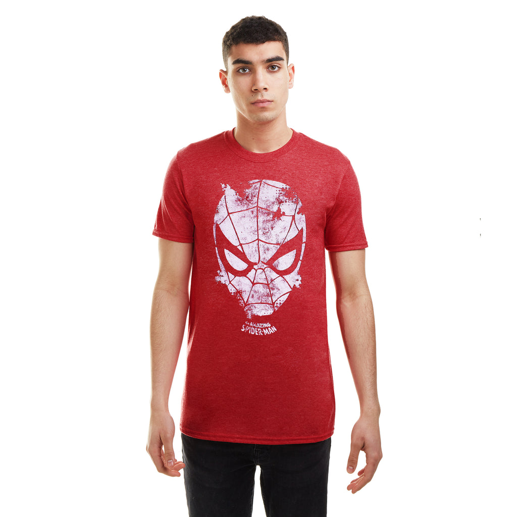 Marvel Mens - Webhead - T-Shirt - Heather Red