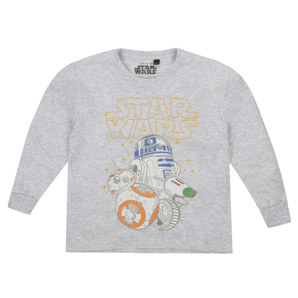 Star Wars Boys - Droid Group - Long Sleeve T-shirt - Grey Heather