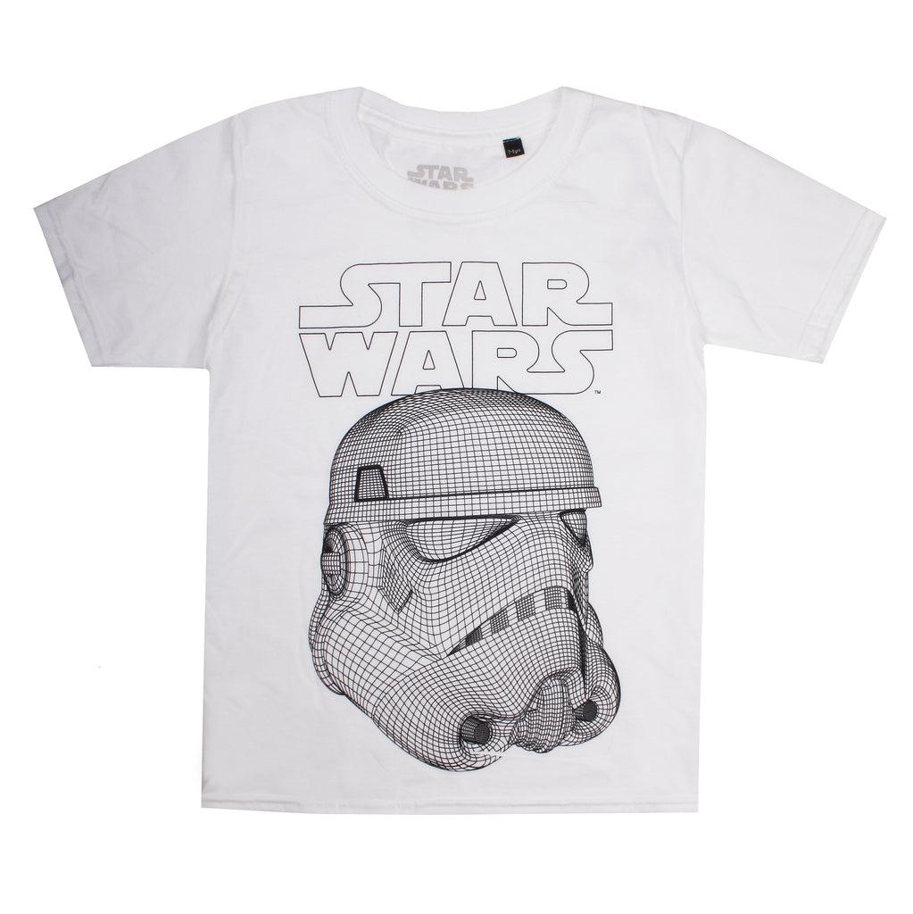 Star Wars Kids - Mask Schematic - T-Shirt - White