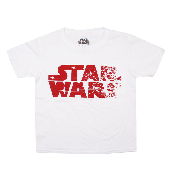 Star Wars Boys - Rebel Text - T-Shirt - White