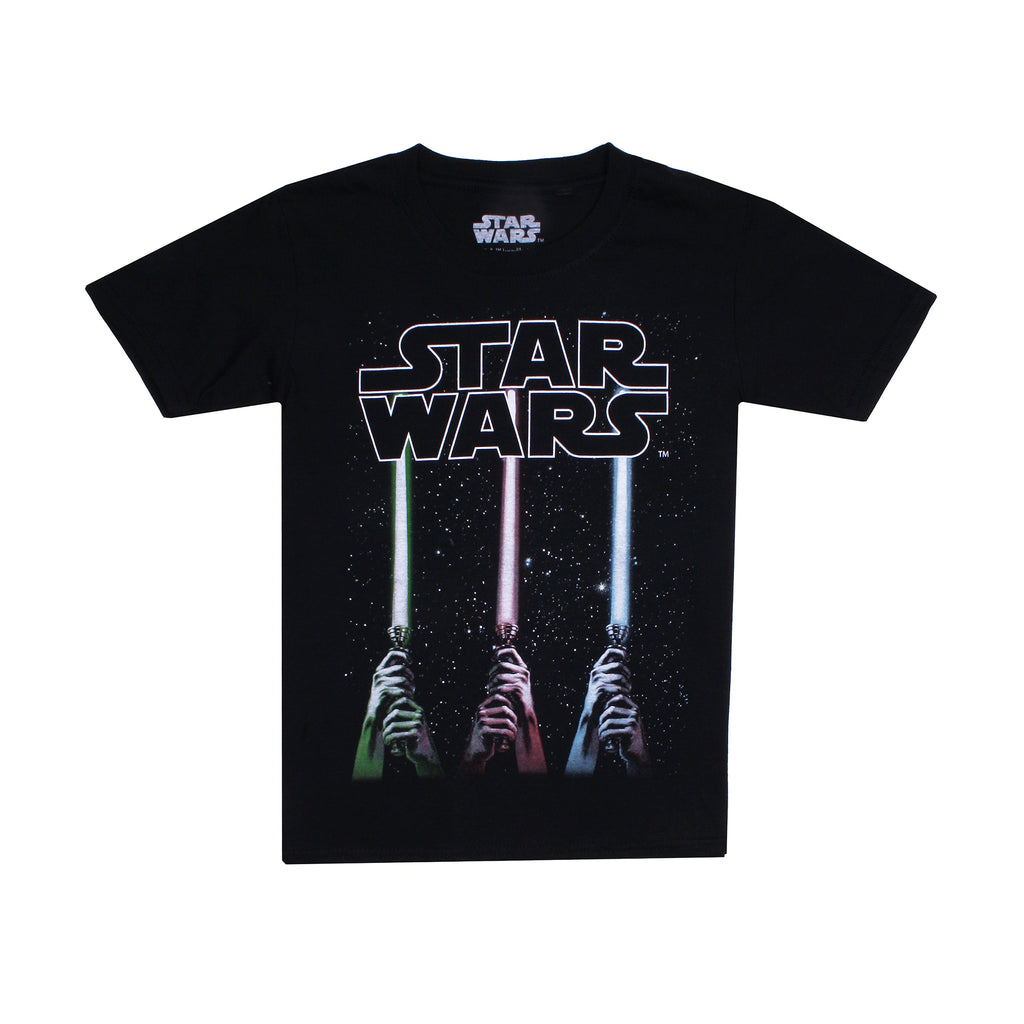 Star Wars Boys - Lightsabers - T-Shirt - Black