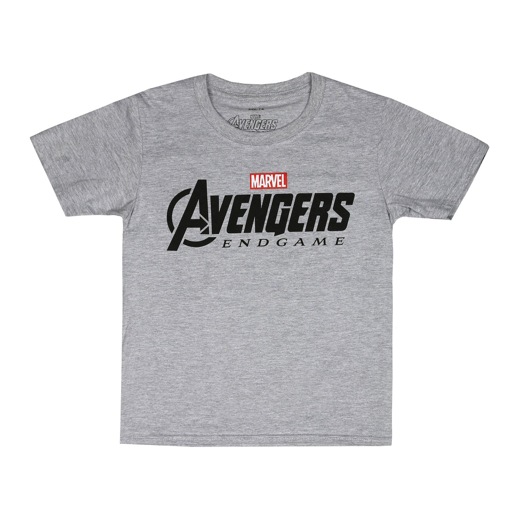 Marvel Kids - Endgame Logo - T-Shirt - Grey Marl