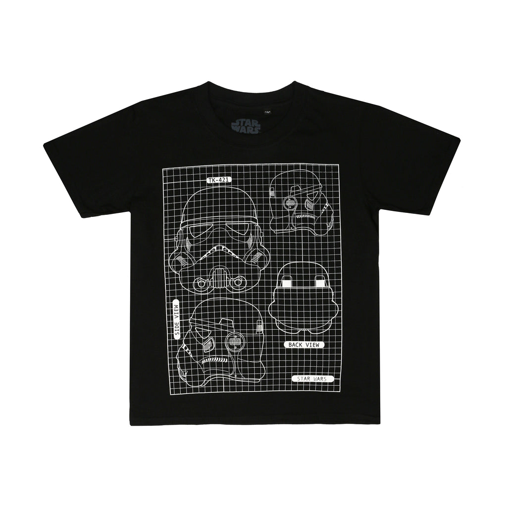 Star Wars Kids - Mask Schematic - T-Shirt - Black