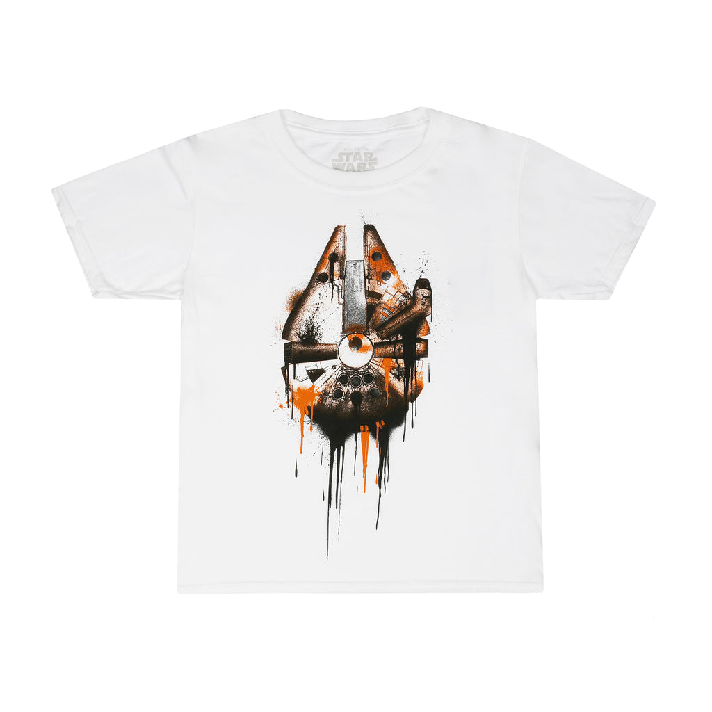 Star Wars Boys - Falcon Drips - T-Shirt - White