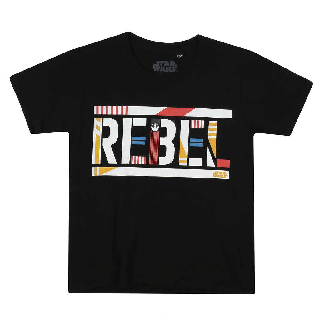 Star Wars Boys - Rebel Text - T-shirt - Black