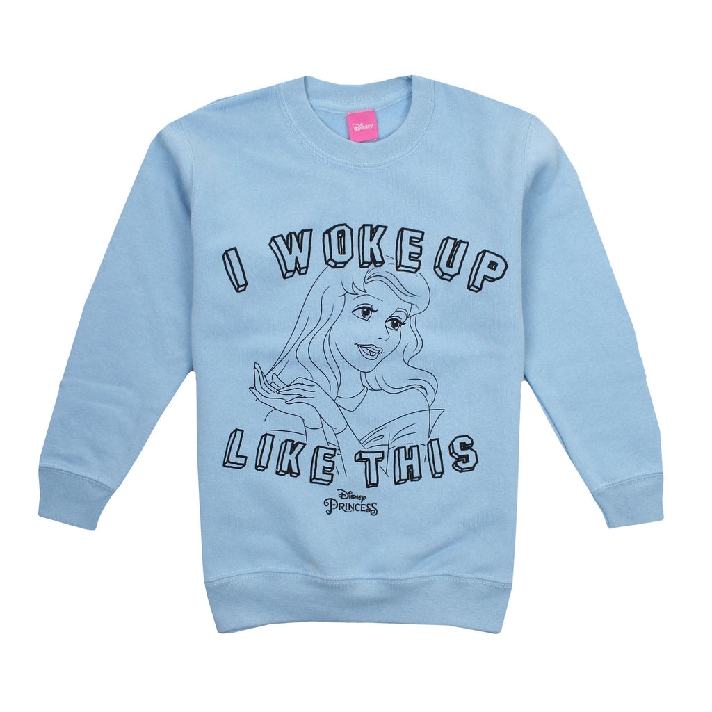Disney Kids - Woke Up - Crew Sweat - Sky Blue - CLEARANCE