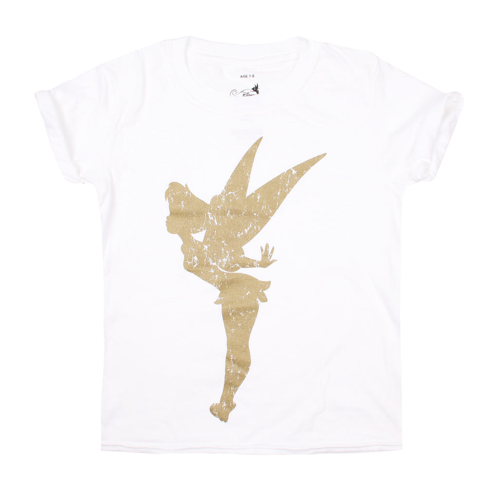 Disney Girls - Tinkerbell Silhouette - T-shirt - White