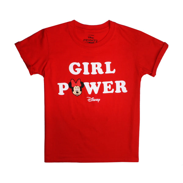 Disney Girls - Girl Power - T-shirt - Red