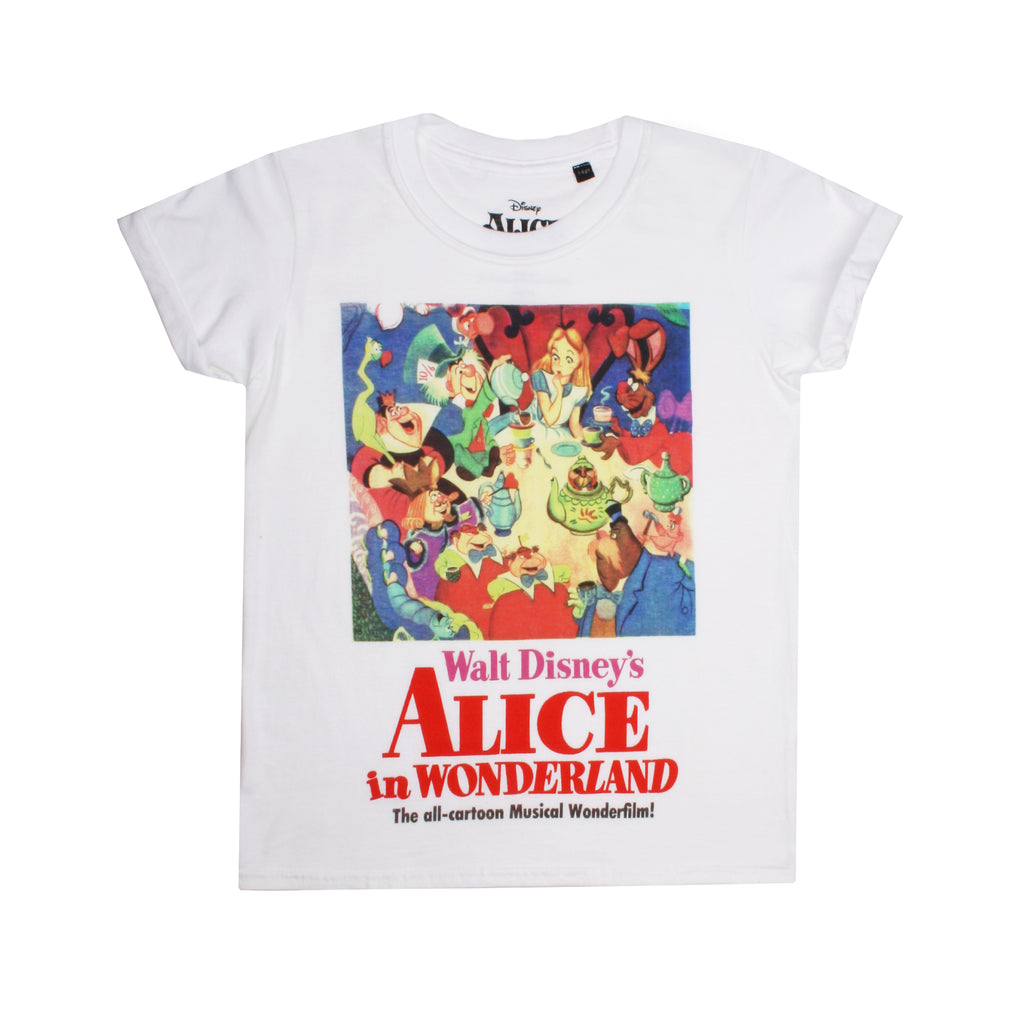 Disney Girls - Alice Film Poster - T-shirt - White - CLEARANCE