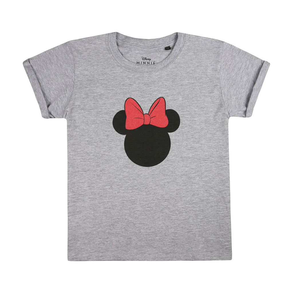 Disney Girls - Minnie Silhouette - T-Shirt - Grey Marl