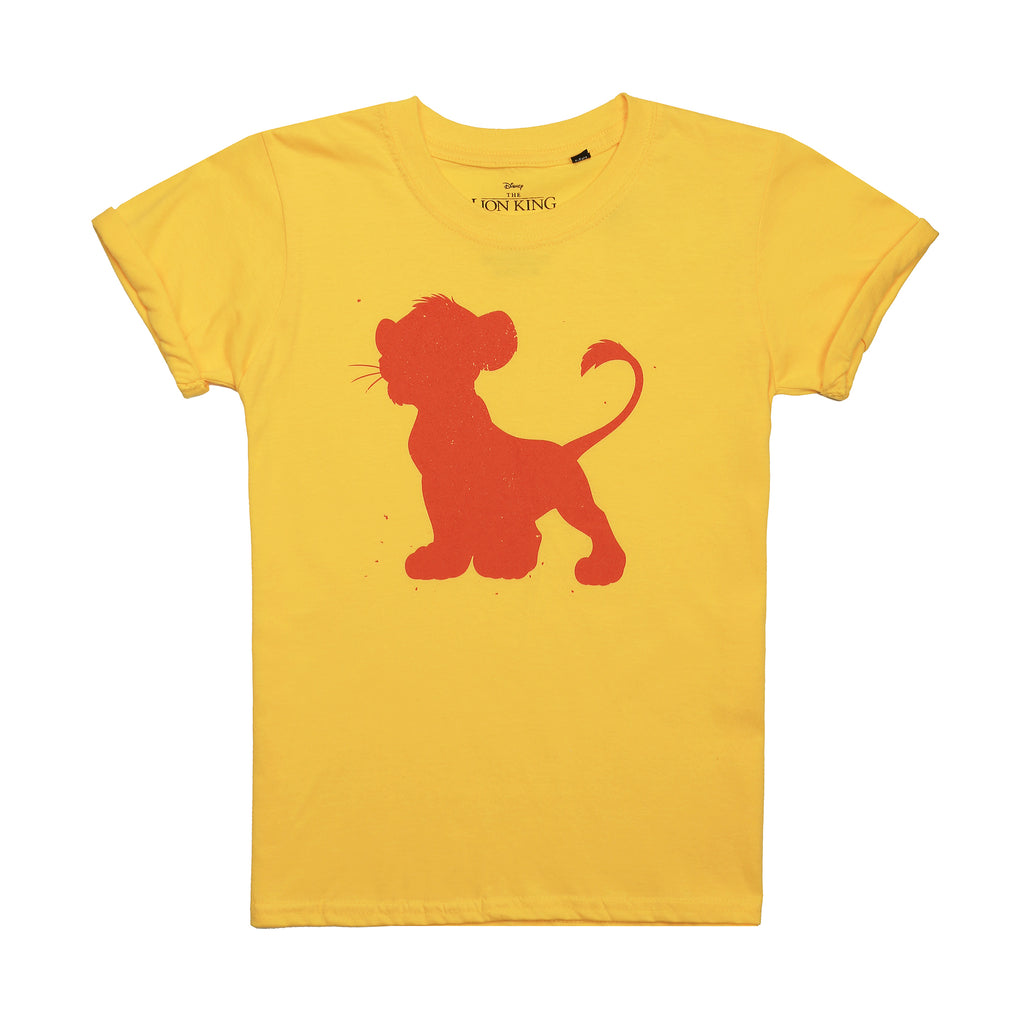 Disney Girls - Simba Silhouette - T-Shirt - Daisy