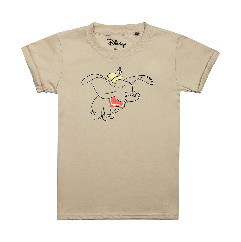 Disney Kids - Dumbo Fly - T-Shirt - Sand - CLEARANCE