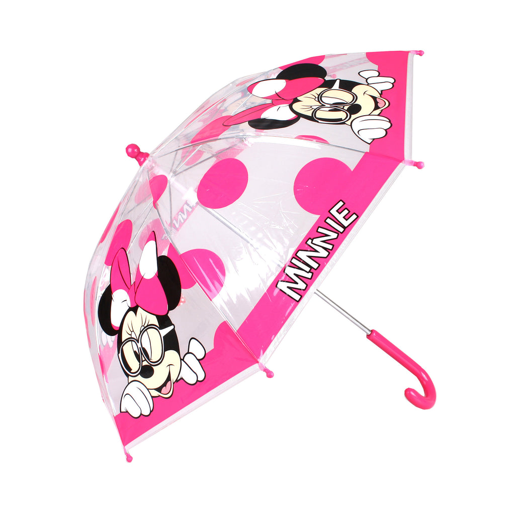 Disney Kids - Minnie Spot - Umbrella - Clear- Pink - CLEARANCE
