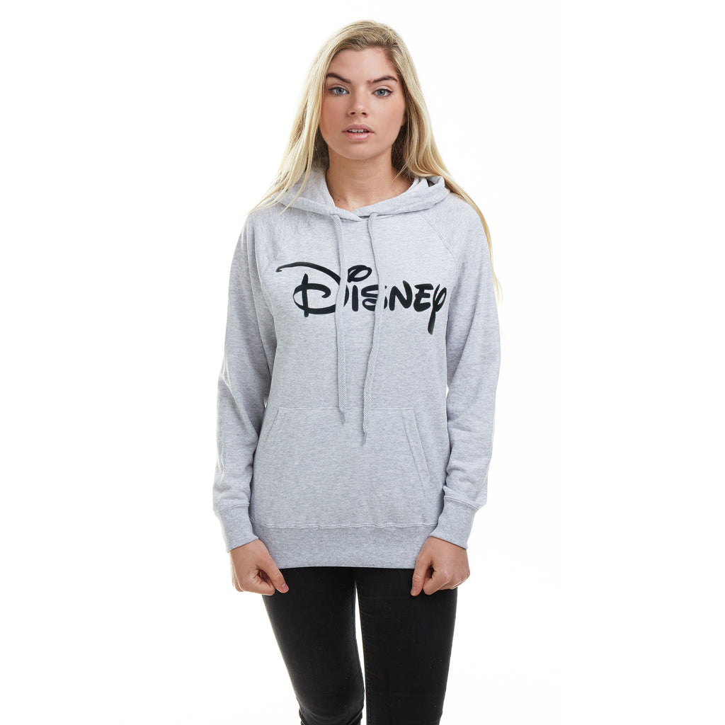 Disney Ladies - Disney Logo - Pullover Hood - Grey Heather
