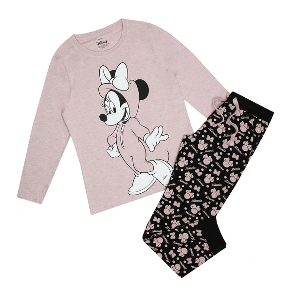 Disney Ladies - Minnie Onesie - Long Sleep Set - Multi