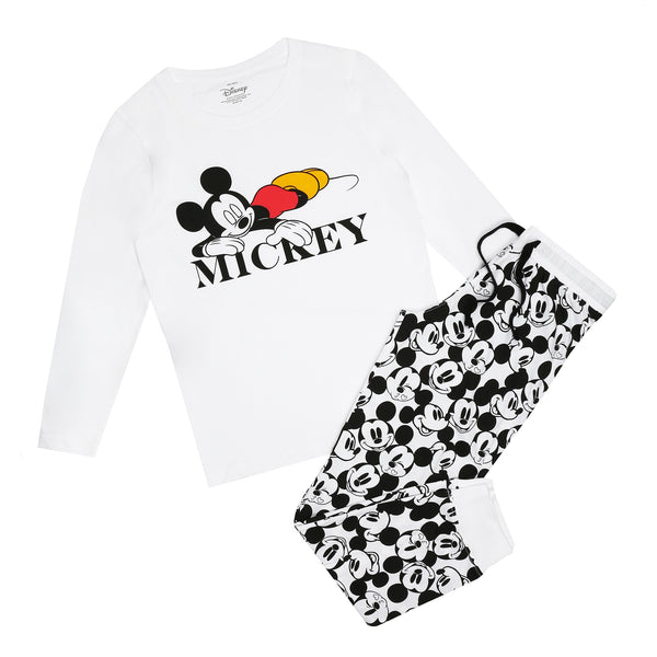 Disney Ladies - Mickey Snooze - Long Sleep Set - Multi