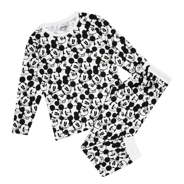Disney Ladies - Mickey Monochrome - Long Sleep Set - Multi