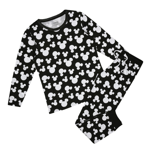 Disney Ladies - Mickey Ditsy - Long Sleep Set - Multi