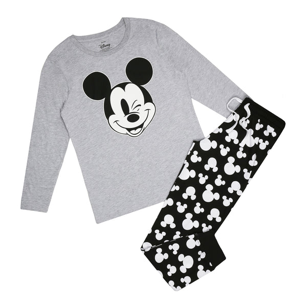 Disney Ladies - Mickey Cheeky Wink - Long Sleep Set - Multi