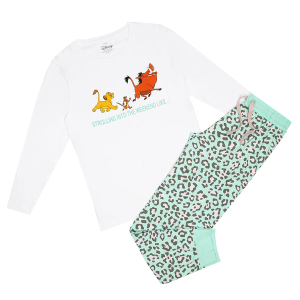 Disney Ladies - Lion King - Strolling Into - Long Sleep Set - Multi