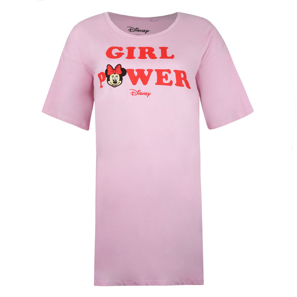 Disney Ladies - Girl Power - Sleep T-shirt - Light Pink