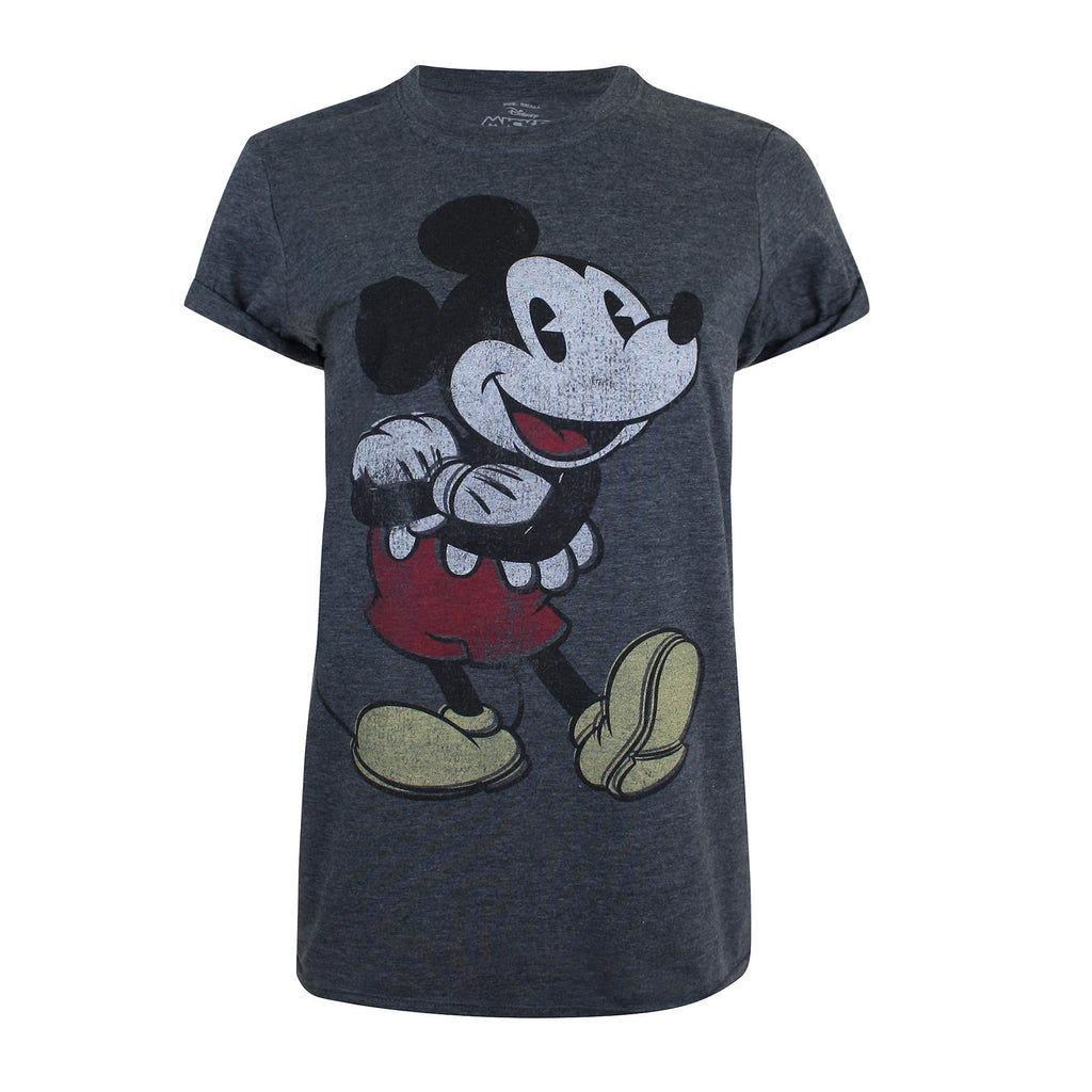 Disney Ladies - Mickey Mouse Vintage - T-shirt - Dark Heather