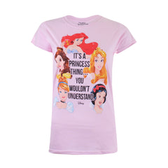 Disney Princess - A Princess Thing Ladies T-Shirt - Light Pink