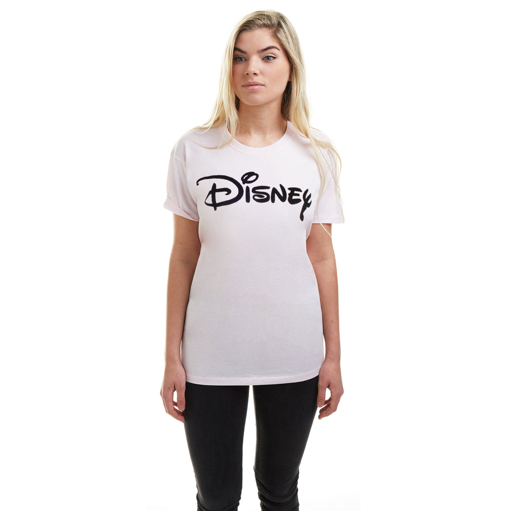 Disney Ladies - Disney Plain Logo - T-shirt - Pink