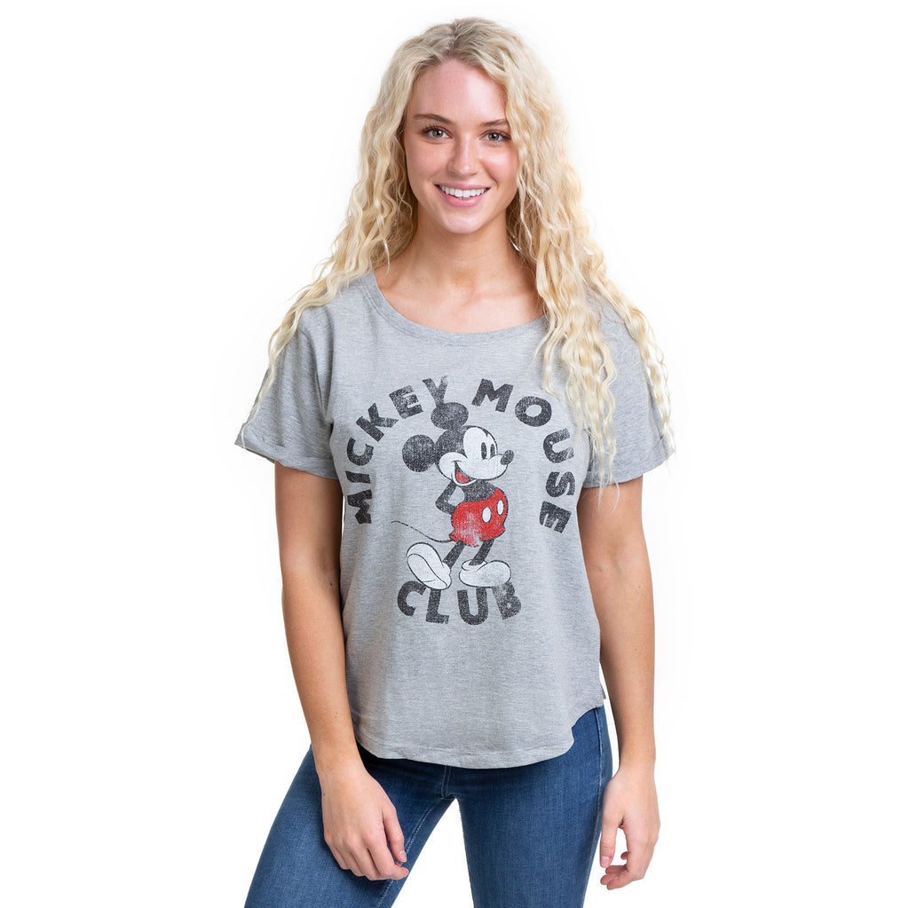 Disney Ladies - Mickey Mouse Club - T-Shirt - Sport Grey