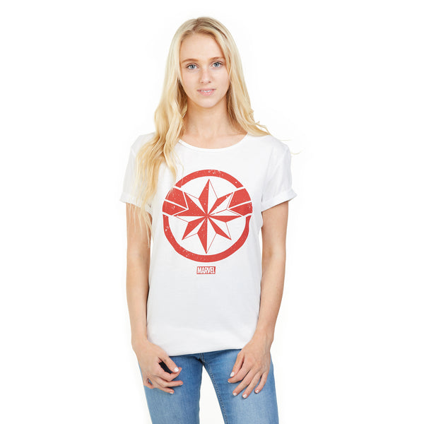 Marvel Ladies - Endgame Captain Marvel - T-Shirt - White