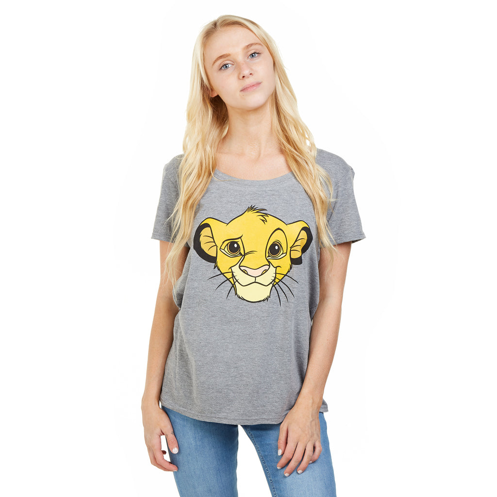 Disney Ladies - Lion King - Simba - T-Shirt - Graphite Heather