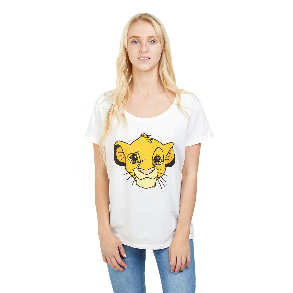 Disney Ladies - Lion King - Simba - T-Shirt - White